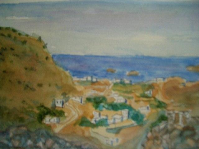 Udsigt fra borgen Leros Grækenland